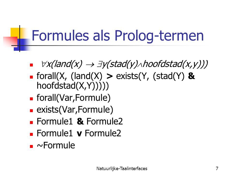 Formules als Prolog-termen