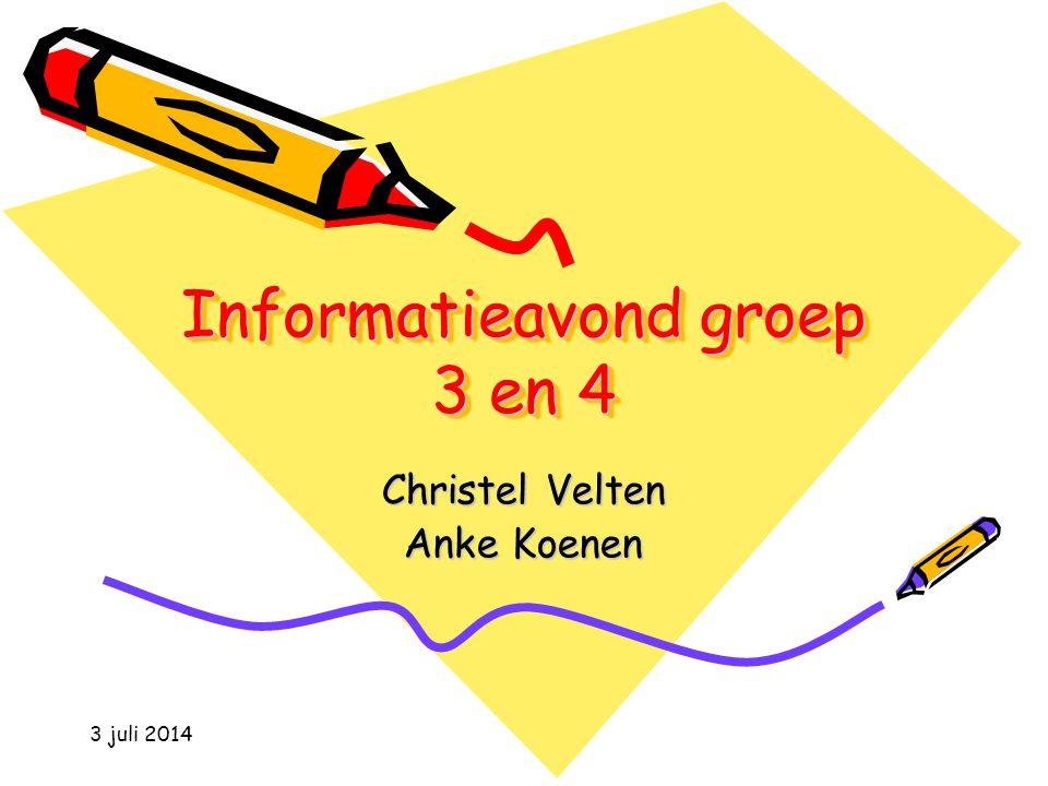 Informatieavond groep 3 en 4
