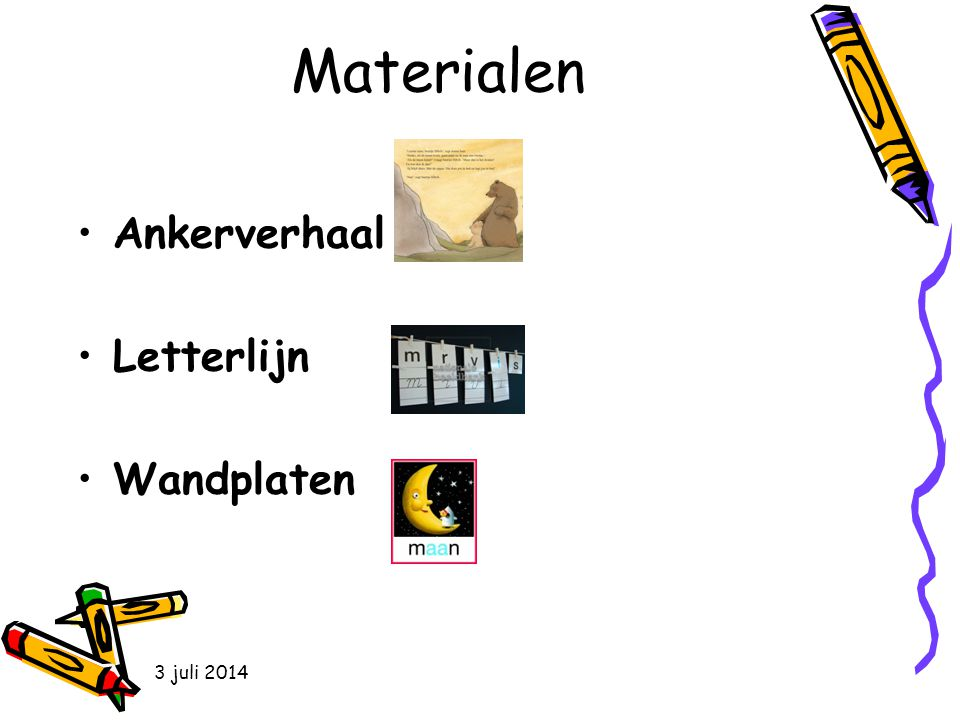 Materialen Ankerverhaal Letterlijn Wandplaten 4 april 2017