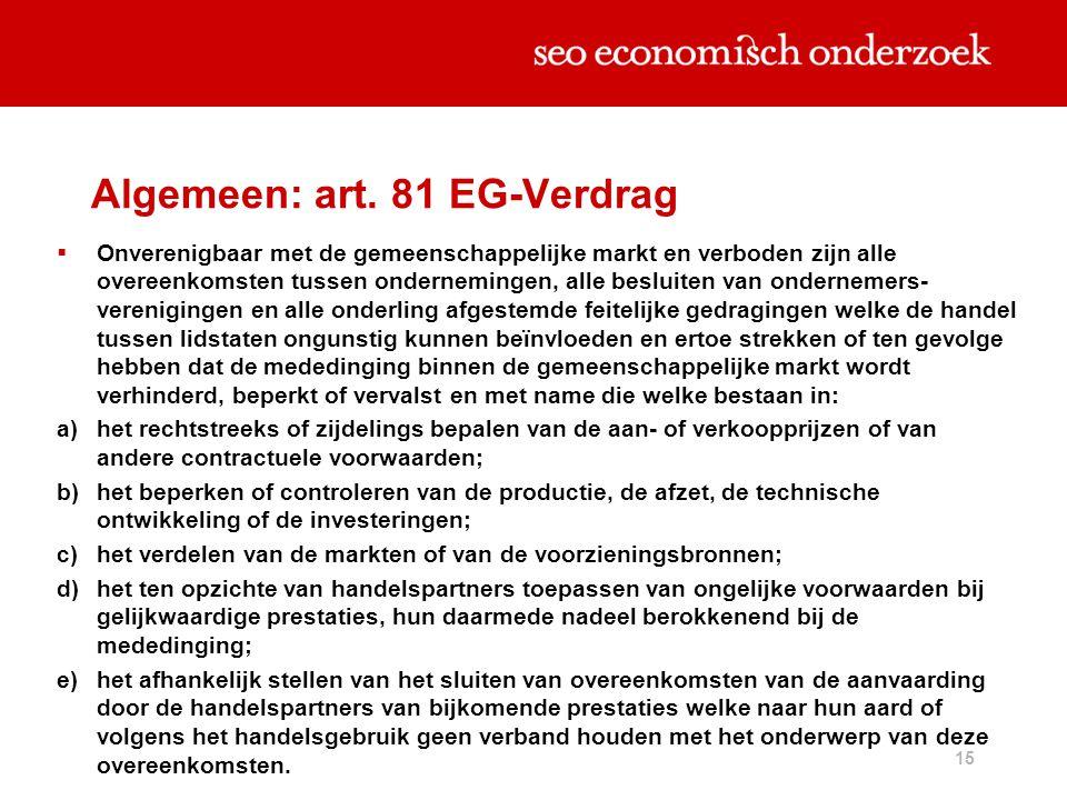 Algemeen: art. 81 EG-Verdrag