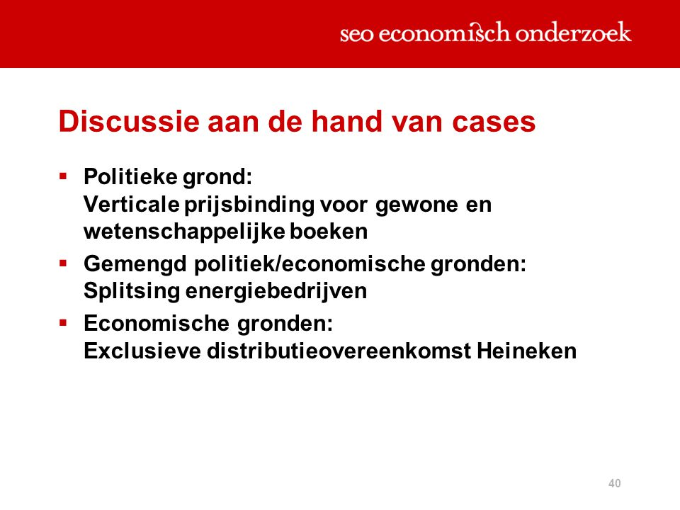 Discussie aan de hand van cases