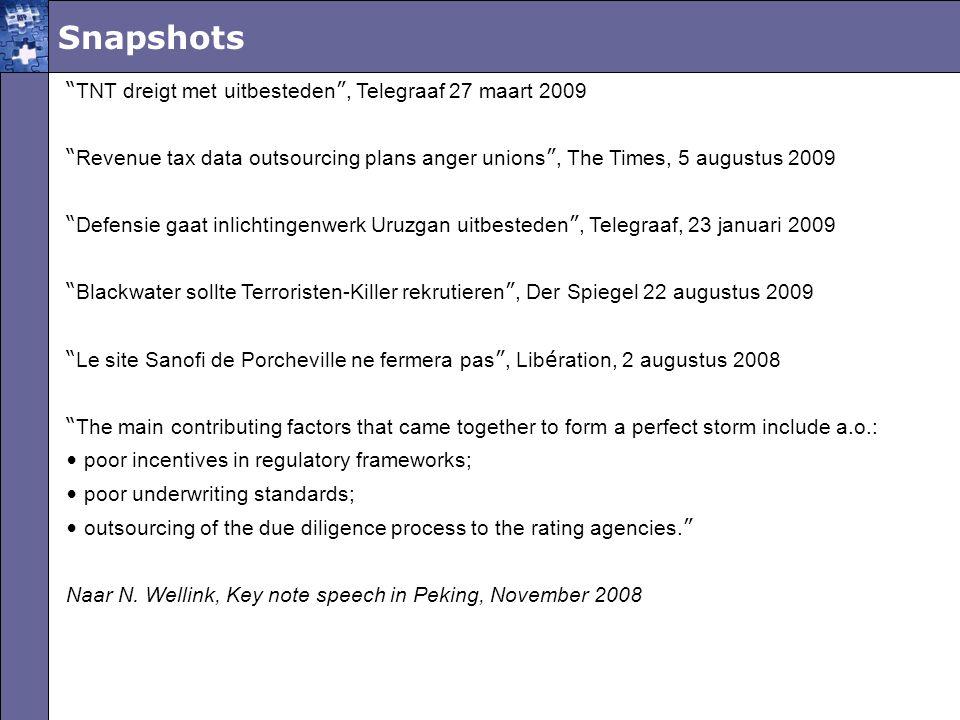Snapshots TNT dreigt met uitbesteden , Telegraaf 27 maart 2009