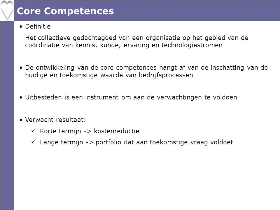 Core Competences Definitie