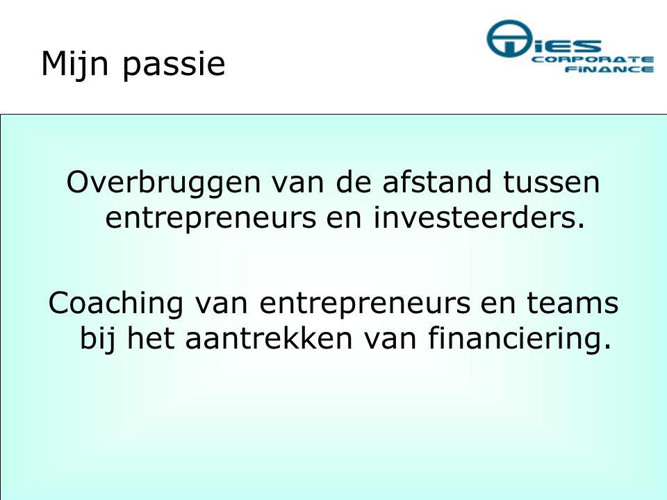 Overbruggen van de afstand tussen entrepreneurs en investeerders.