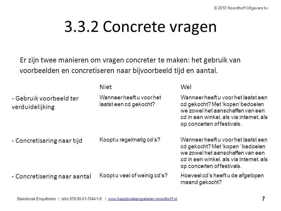 3.3.2 Concrete vragen