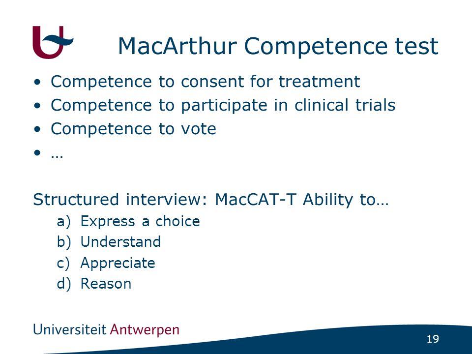 MacArthur Competence Assessment Tool voor beheer van goederen bestaat niet…