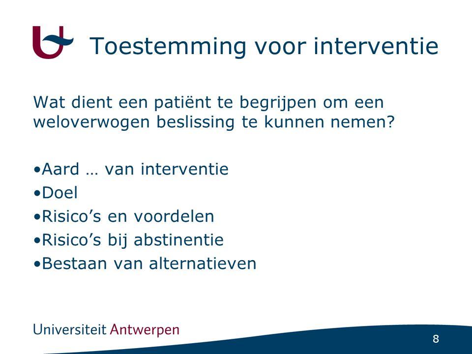 Instrumenten Competence to consent Criteria van White