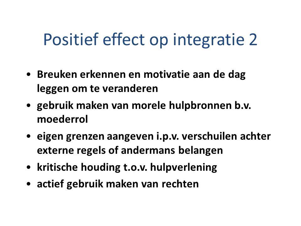 Positief effect op integratie 2