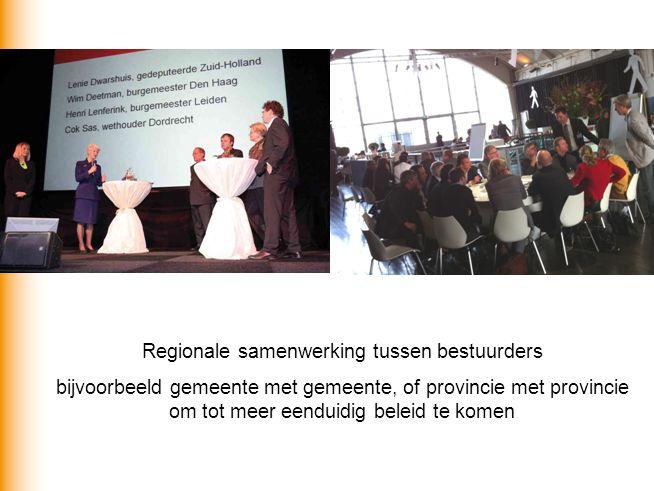 Regionale samenwerking tussen bestuurders
