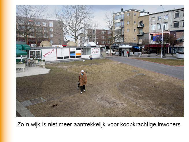 Zo´n wijk is niet meer aantrekkelijk voor koopkrachtige inwoners