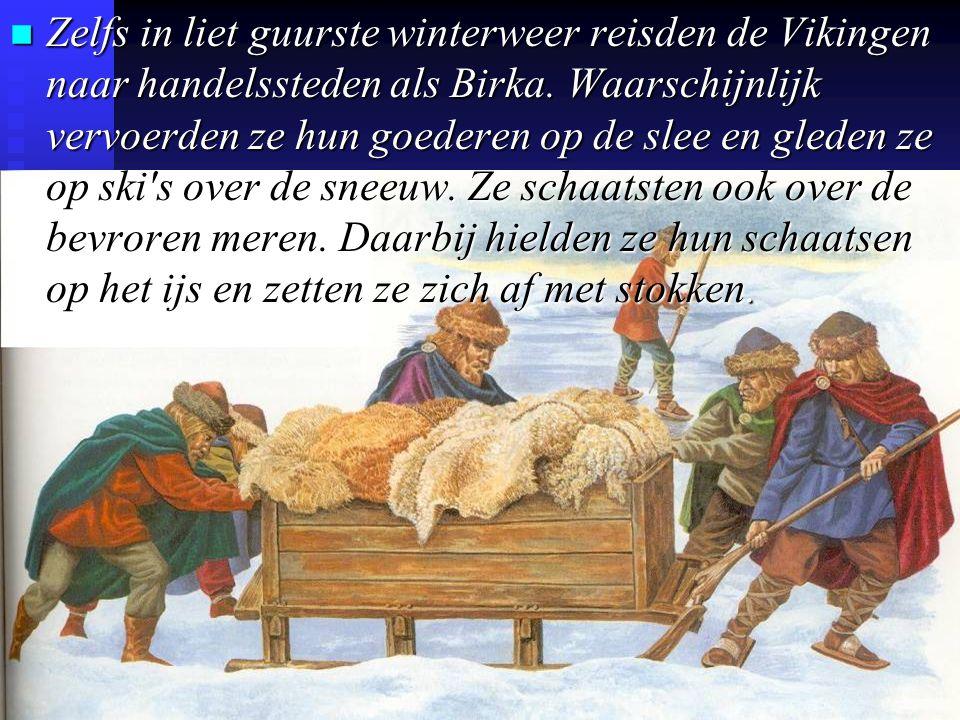 Zelfs in liet guurste winterweer reisden de Vikingen naar handelssteden als Birka.