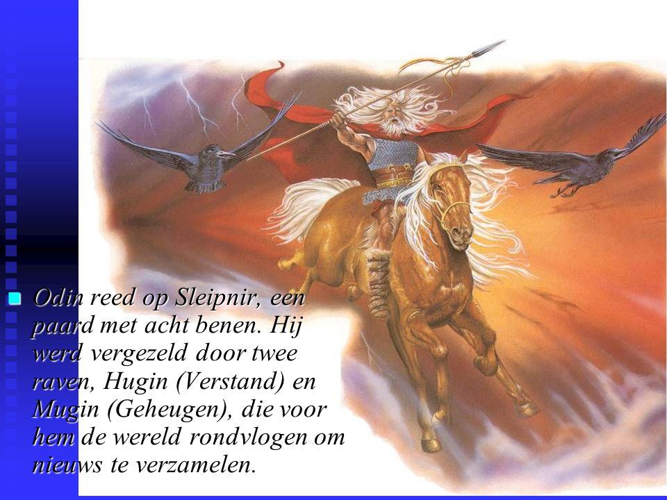 Odin reed op Sleipnir, een paard met acht benen