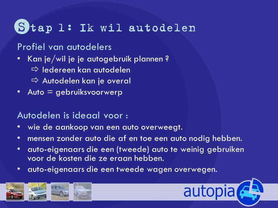 S tap 1: Ik wil autodelen Profiel van autodelers