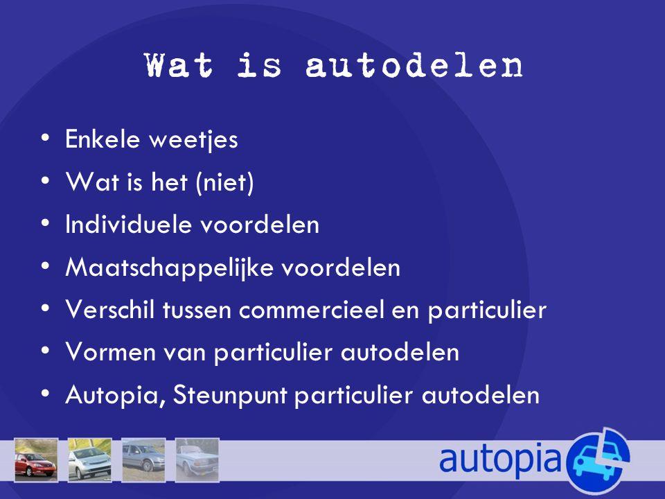 Wat is autodelen Enkele weetjes Wat is het (niet)