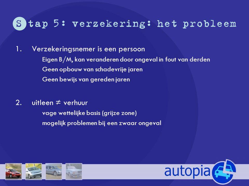 S tap 5: verzekering: het probleem