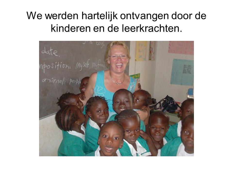We werden hartelijk ontvangen door de kinderen en de leerkrachten.