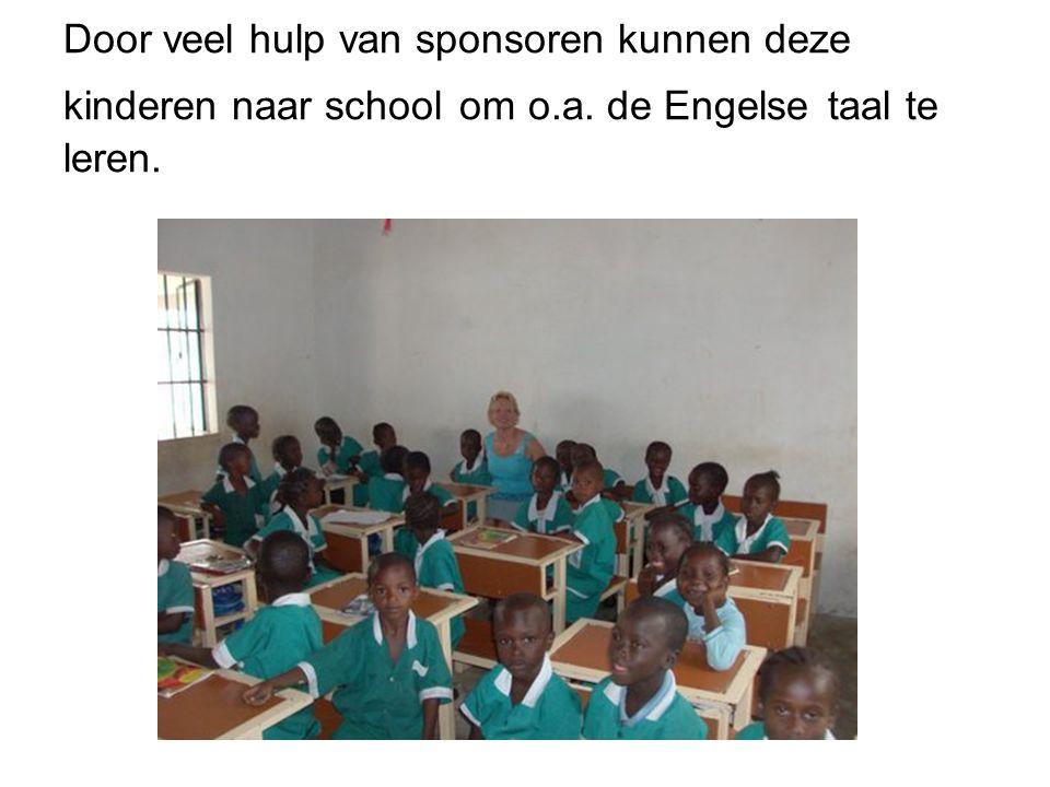 Door veel hulp van sponsoren kunnen deze kinderen naar school om o. a