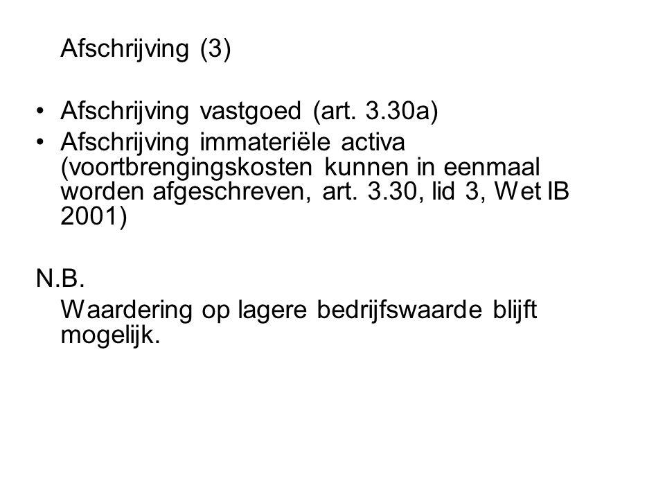 Afschrijving vastgoed (art. 3.30a)