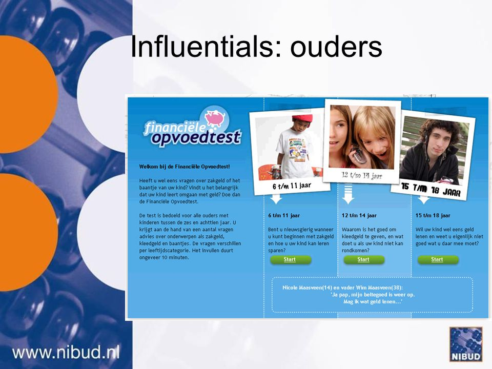Influentials: ouders