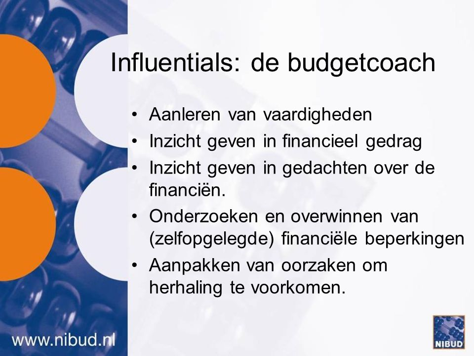 Influentials: de budgetcoach