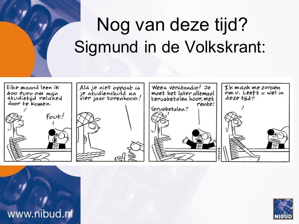 Nog van deze tijd Sigmund in de Volkskrant: