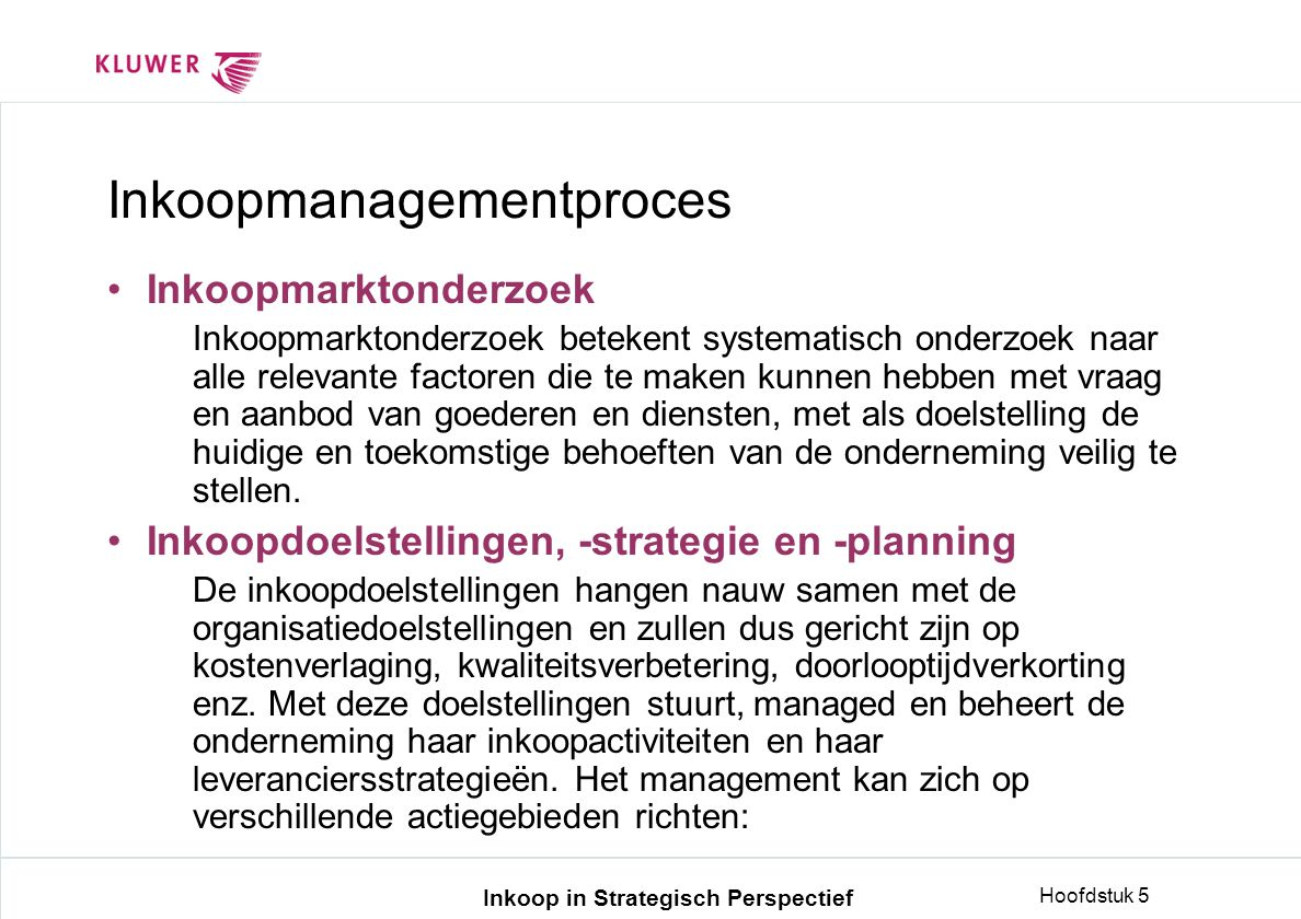 Inkoopmanagementproces