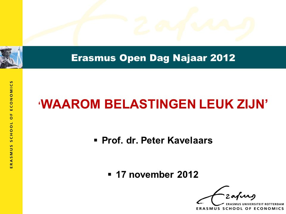 Erasmus Open Dag Najaar 2012