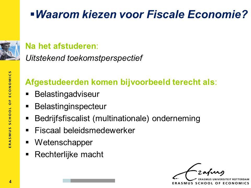 Waarom kiezen voor Fiscale Economie