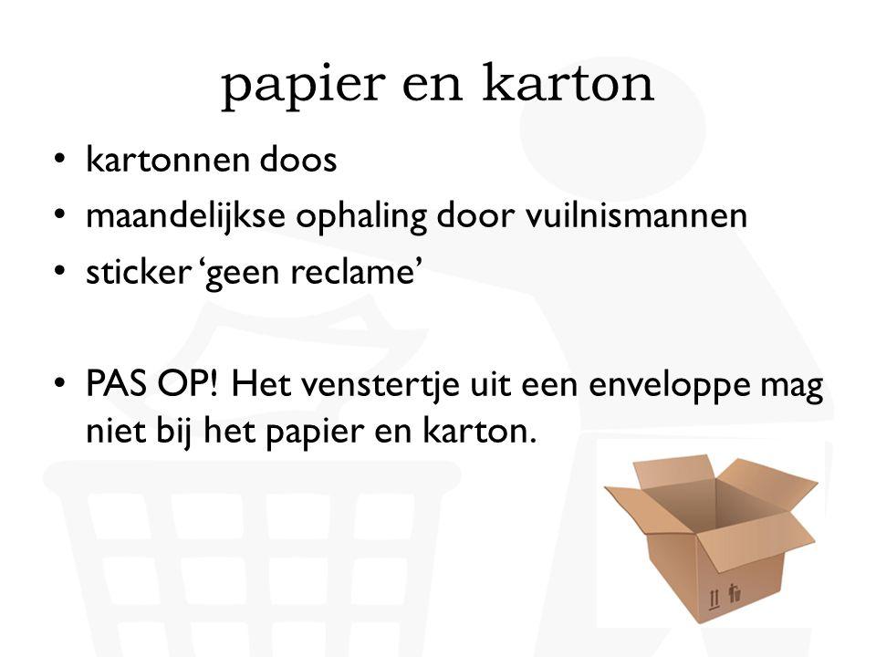 papier en karton kartonnen doos