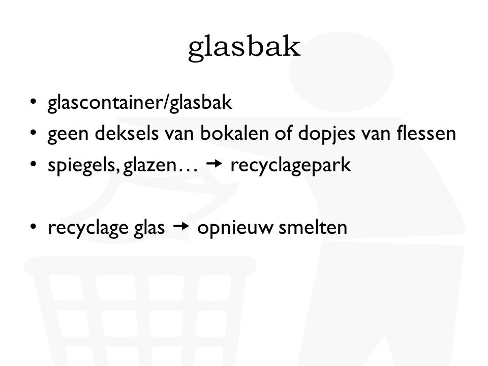 glasbak glascontainer/glasbak
