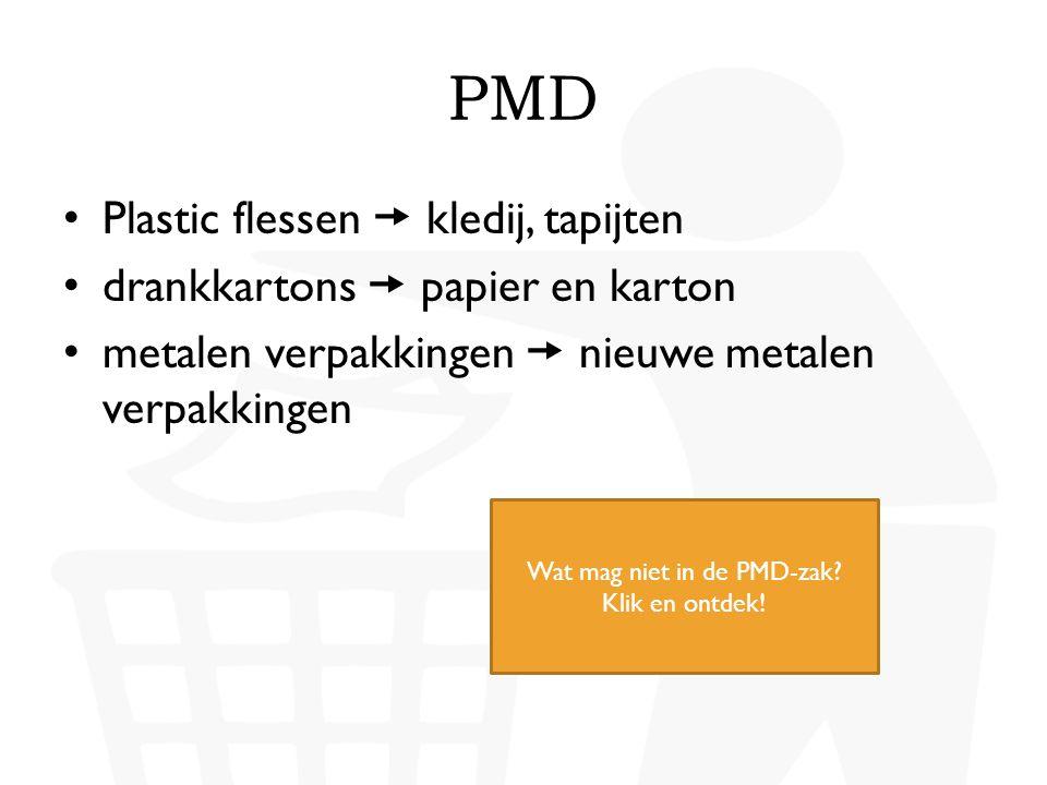 Wat mag niet in de PMD-zak Klik en ontdek!
