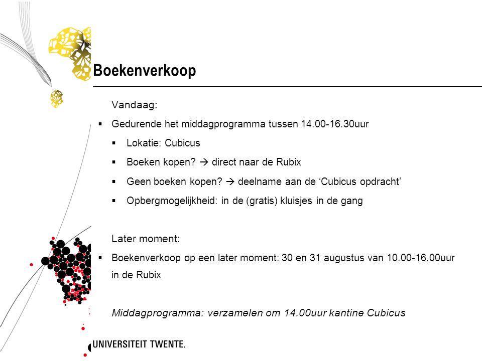 Boekenverkoop Vandaag: Later moment: