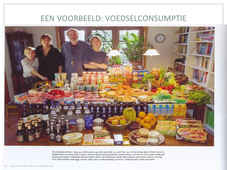 EEN VOORBEELD: VOEDSELCONSUMPTIE