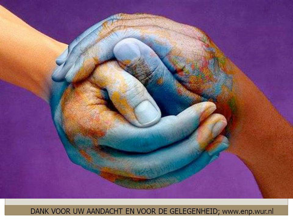 DANK VOOR UW AANDACHT EN VOOR DE GELEGENHEID; www.enp.wur.nl