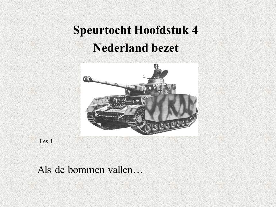 Speurtocht Hoofdstuk 4 Nederland bezet