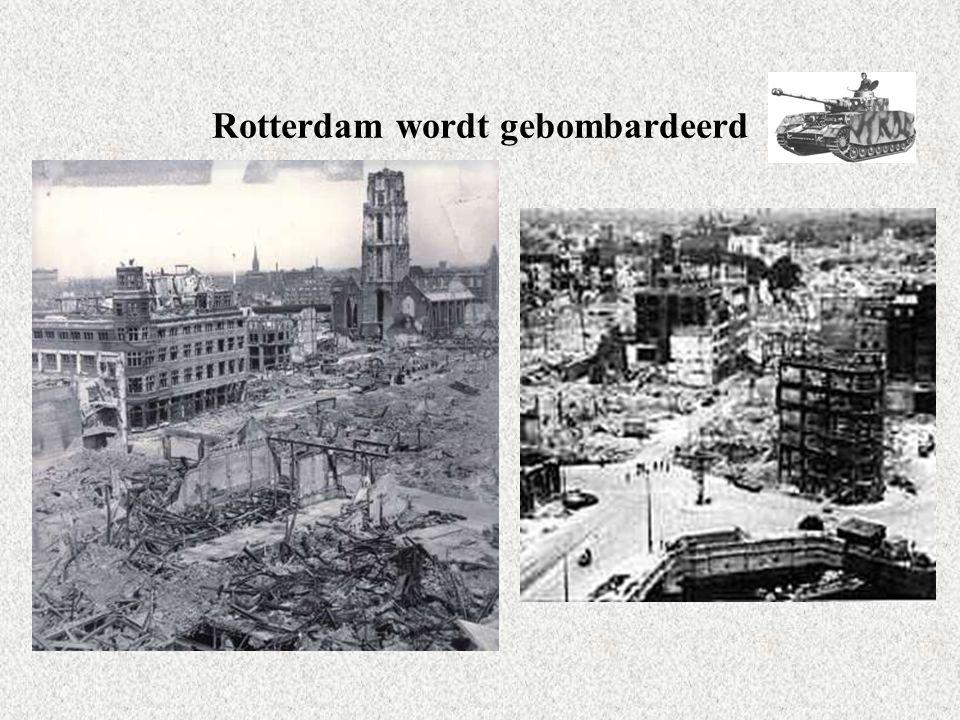 Rotterdam wordt gebombardeerd