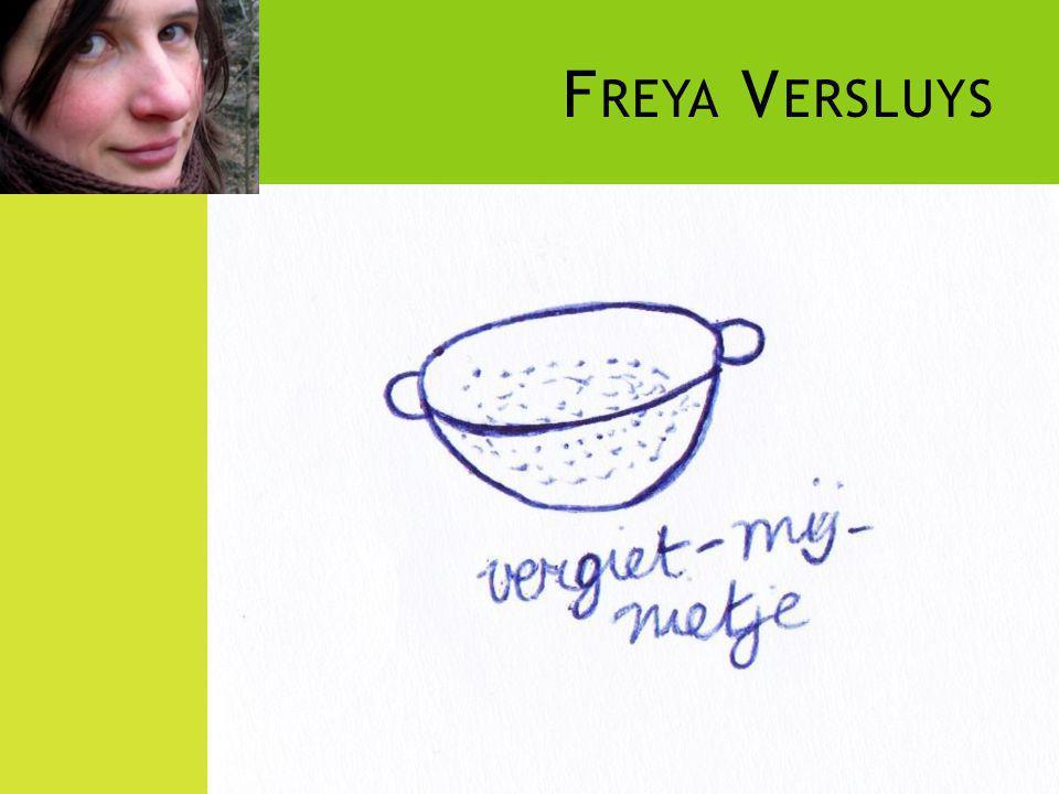 Freya Versluys Voorzitster van VZW 't Vergiet in Gent