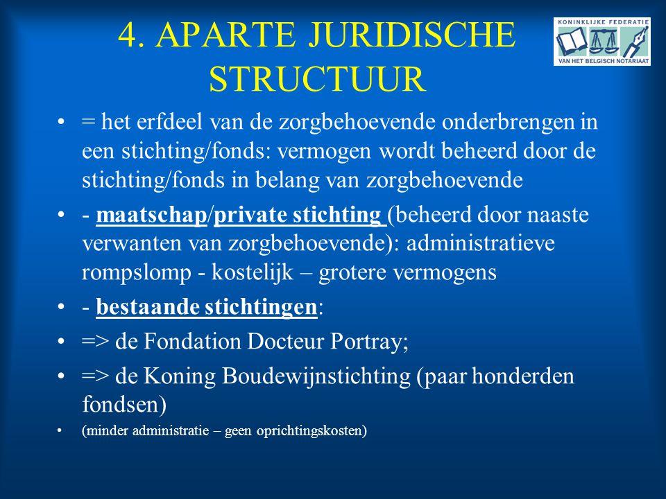 4. APARTE JURIDISCHE STRUCTUUR