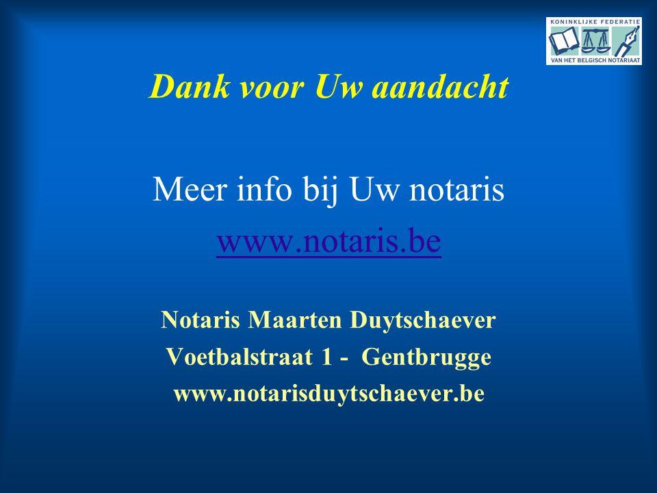 Notaris Maarten Duytschaever Voetbalstraat 1 - Gentbrugge