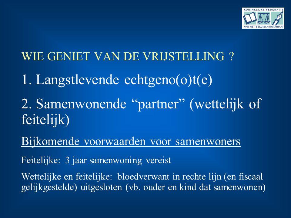 2. Samenwonende partner (wettelijk of feitelijk)