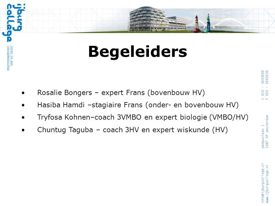 Begeleiders Rosalie Bongers – expert Frans (bovenbouw HV)