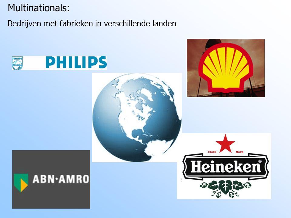 Multinationals: Bedrijven met fabrieken in verschillende landen