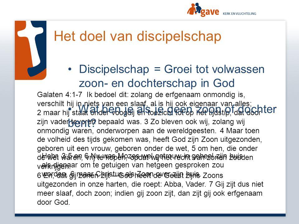 Het doel van discipelschap