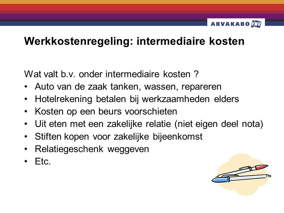 Werkkostenregeling: intermediaire kosten