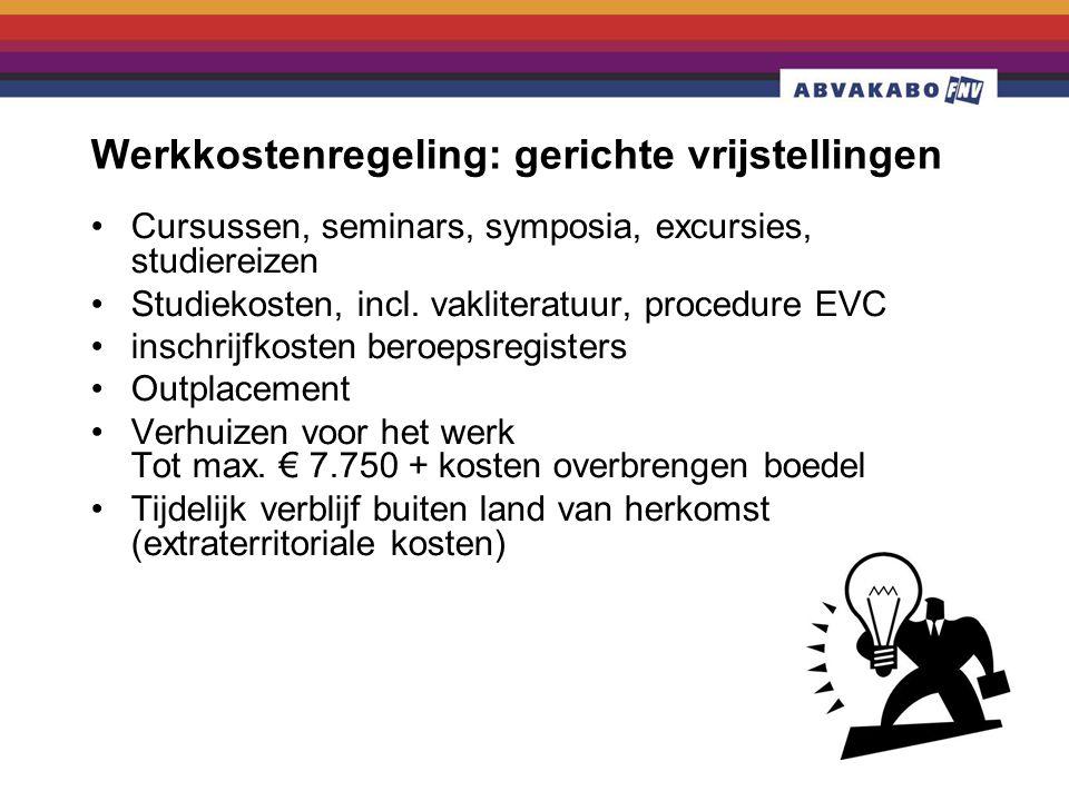 Werkkostenregeling: gerichte vrijstellingen