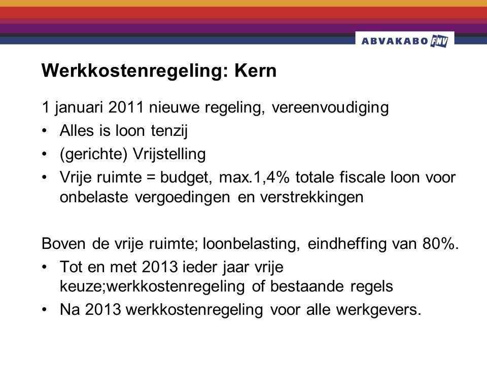 Werkkostenregeling: Kern
