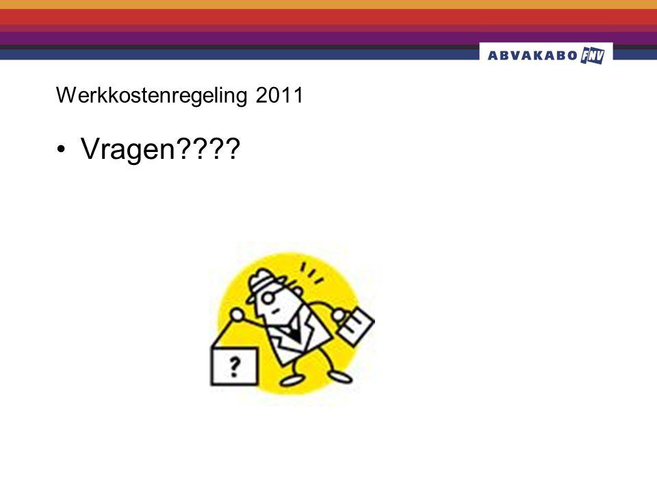 Werkkostenregeling 2011 Vragen