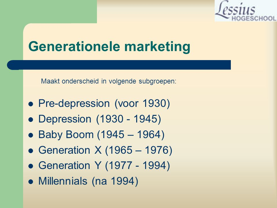 Generationele marketing
