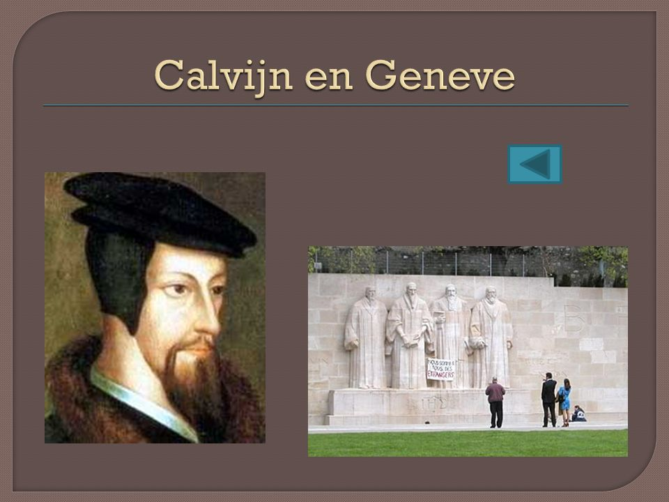 Calvijn en Geneve