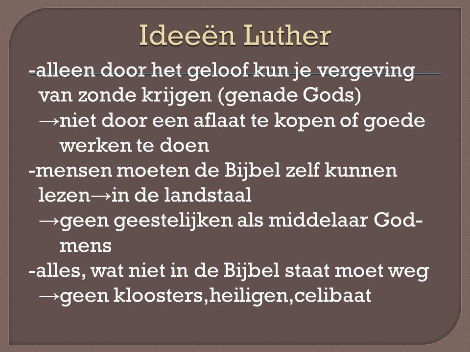 Ideeën Luther